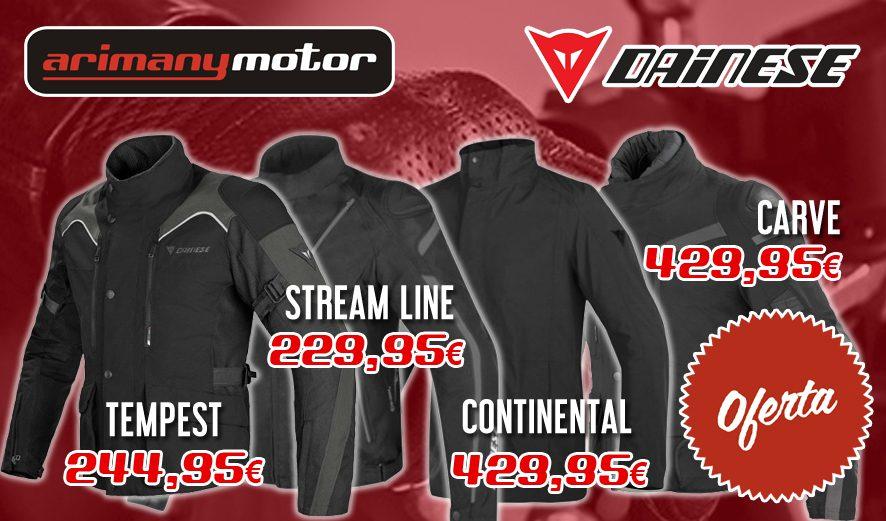 Modelos y precios chaquetas Dainese en Arimanymotor