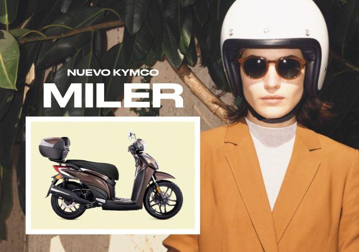 KYMCO España lanza Miler 125, el scooter más femenino de la gama, a un precio recomendado de 2.399 €
