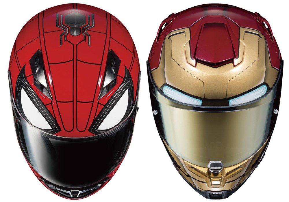 Nuevos cascos de moto HJC de Spiderman e Iron Man, para los fanáticos de Marvel
