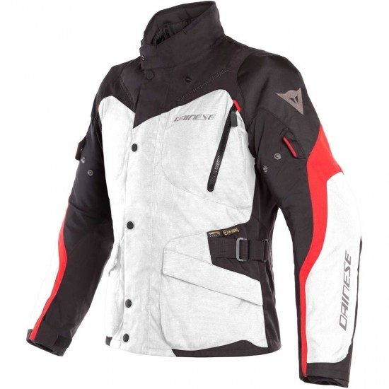 8b815379f6c CAZADORA Dainese TEMPEST 2 D-DRY LIGHT GREY BLACK TOUR RED