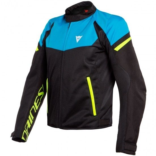 Dainese Bora Air Tex Black Fire Blue Fluo Yellow 07a 0 M 09136334 Large