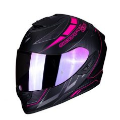Casco Scorpion Exo 1400 Air Cupnegro Mate Con Rosa